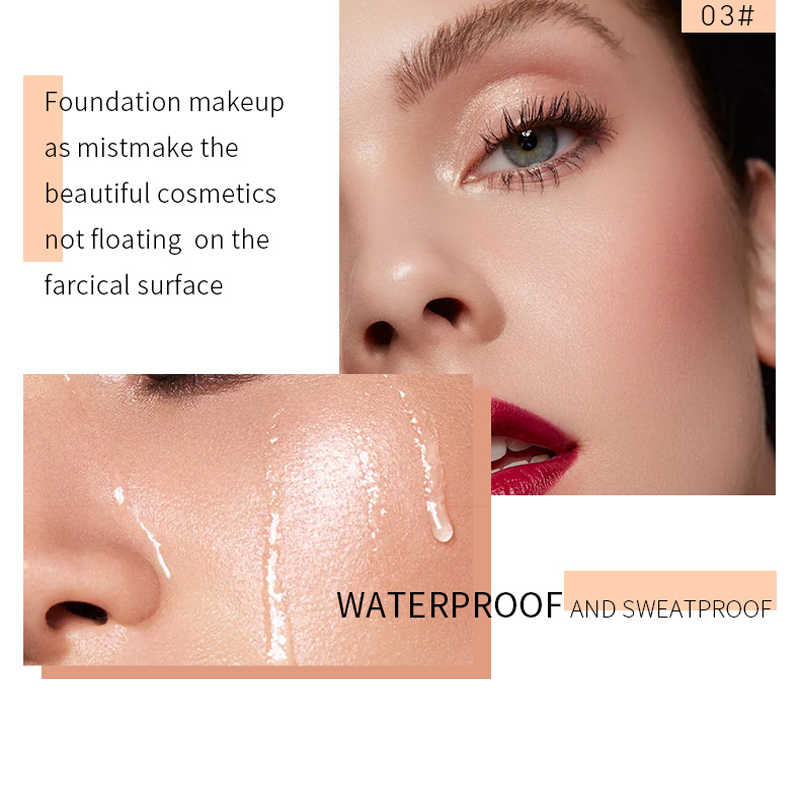 Derol corretivo mineral touch, 30ml, base de maquiagem facial, hidratante para iluminar, base líquida, primer para maquiagem