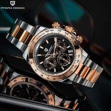 Casual Watch Chronograph Diving Quartz VK63 Pagani-Design Automatic 100M Sapphire Sport