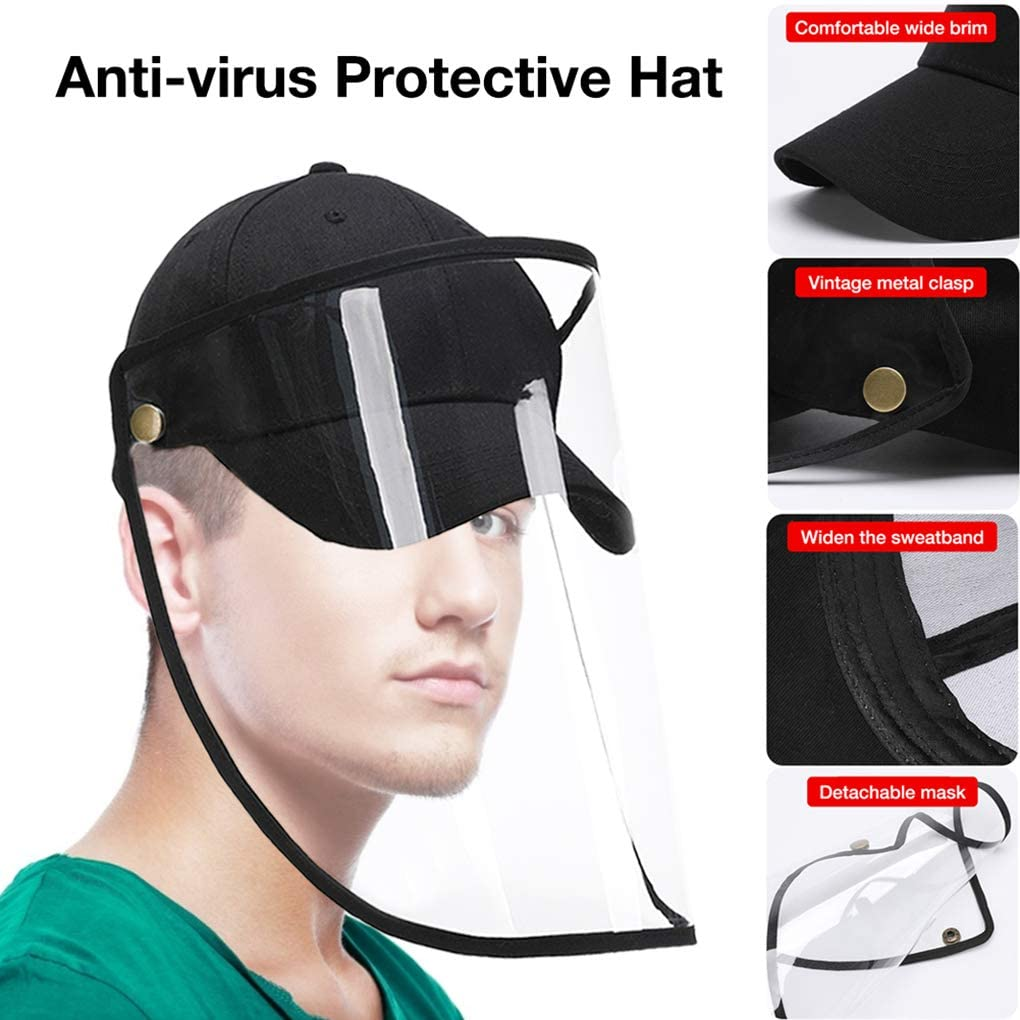 1pc/2pcs/4pcs Clear Face Cover and Face Shield Protective Hats for Full Face Protection 14