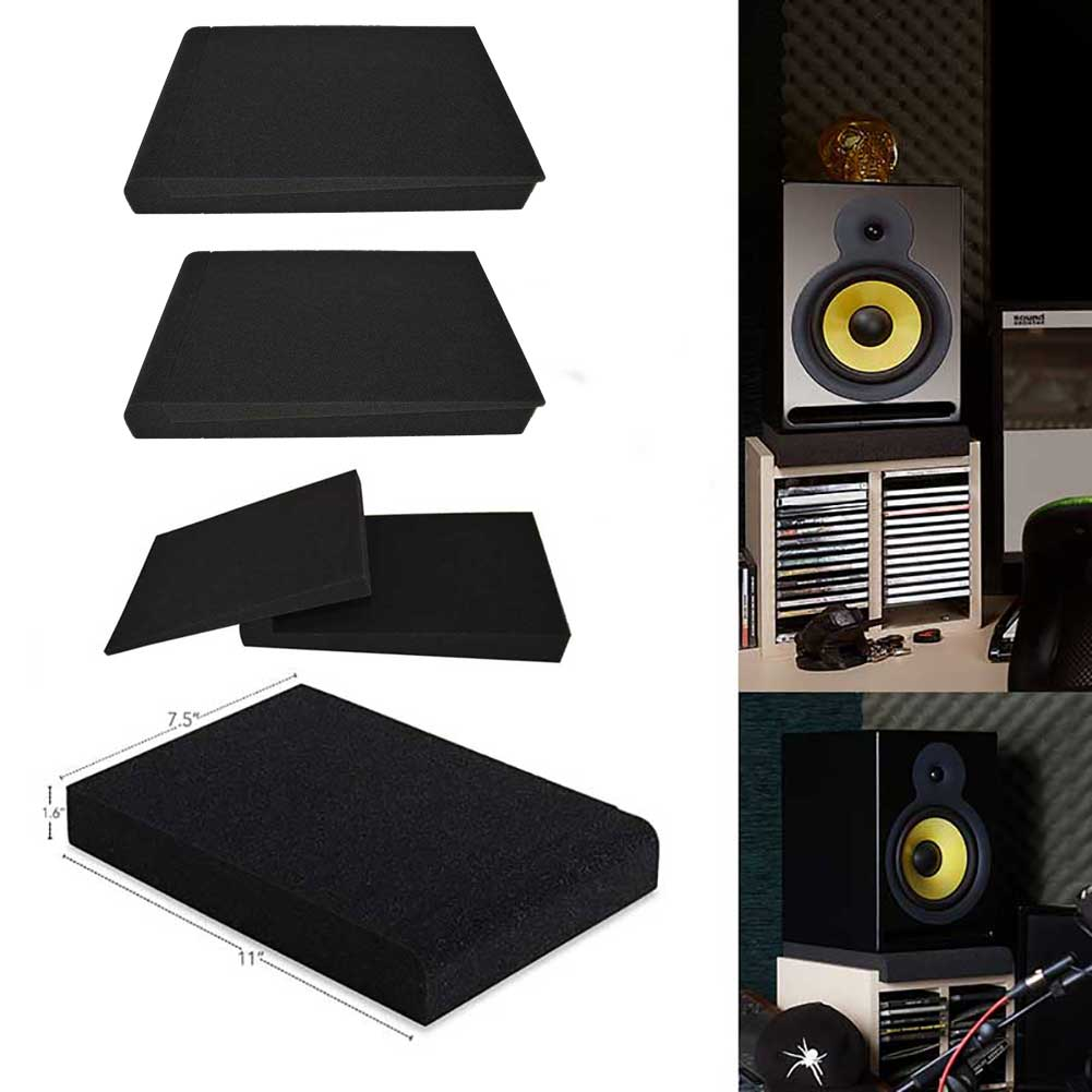 BEIYIN-4Set-Studio Monitor Isolation Pads for 5in Monitors,Pair of Two High Density Acoustic Foam which Fits most Speaker Stands