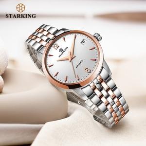 Image 4 - STARKING Watch Women Automatic Self wind Analog Ladies Waterproof Stainless Steel Wristwatch 5atm Female Relogio Feminino AL0194