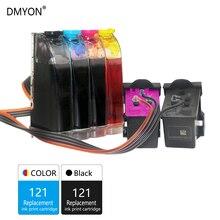DMYON 121 СНПЧ Замена сыпучих чернил для hp 121 для Deskjet D2563 F2423 F2483 F2493 F4213 F4275 F4283 F4583 картриджи для принтера