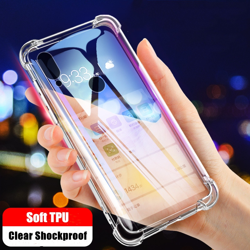 Shockproof Clear Case For <font><b>Xiaomi</b></font> <font><b>Mi</b></font> CC9 CC9E 9T 9 SE 8 A3 <font><b>A2</b></font> Lite Soft <font><b>Silicone</b></font> Case For <font><b>Xiaomi</b></font> Redmi K20 8A 7A Note 8 7 6 5 Pro image