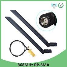 868 mhz 915 mhz antena 5dbi RP-SMA conector gsm 915 mhz 868 mhz antena + 21cm sma macho/u. fl trança cabo