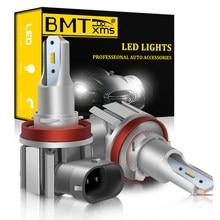 BMTxms – phare antibrouillard Canbus pour voiture, pour VW Golf Jetta 4 5 7 6 Passat B5 B6 B7 CC POLO 6N 9N 6R 6C Touareg 7P Touran 1T3 5T1 LED H11 H8 DRL