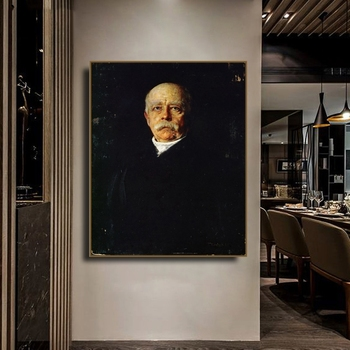 Posters and Prints General Soldier Portrait Prince Otto Von Bismarck Franz Paintings On The Wall Canvas Art Picture for Home image