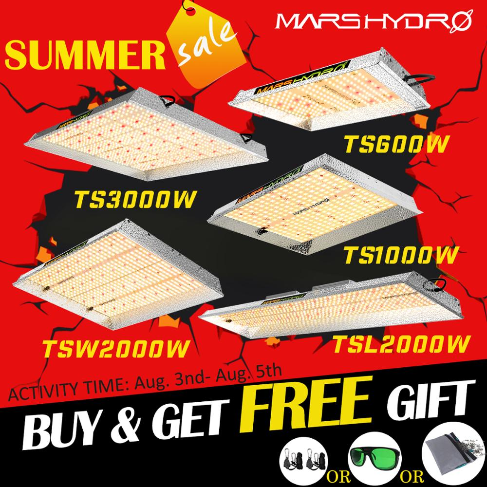 Mars Hydro TS 600W 1000W 2000W 3000W LED Coltiva La Luce Interna Piante Veg Fiore Sostituire HPS/HID di Coltura Idroponica Spettro Completo