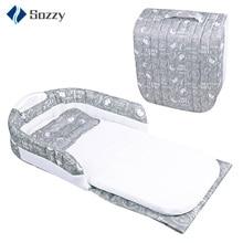 Детская многофункциональная переносная кровать с одуванчиком, разделенный светильник, дорожная сумка для сна, детская кроватка, съемная детская кровать