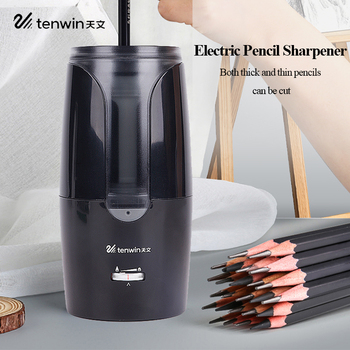 Tenwin Electric Pencil Sharpener Automatic Mechanical Pencil Sharpener Thick/Fine Nib/Tip Adjustable Student Sketch Drawing 8028