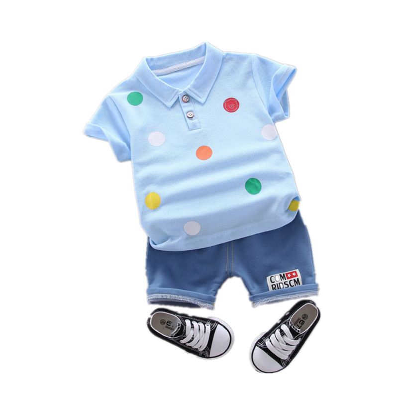 New Summer Baby Boy Clothes Suit Children Fashion Cartoon T Shirt Shorts 2Pcs/set Toddler Cotton Casual Clothing Kids Tracksuits