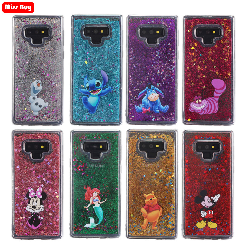 <font><b>Mickey</b></font> Glitter liquid Case for Samsung Galaxy Note 9 8 S8 S9 S7 edge Cover for <font><b>iPhone</b></font> <font><b>6</b></font> 6s 7 8 Plus X 5 5S SE XS Max Xr <font><b>Coque</b></font> image