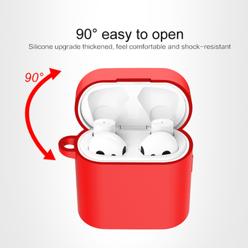 Silicone Case For Xiaomi Airdots Pro 2 Wireless Bluetooth Headset Protective Cover With Carabiner Hook Rotection Case For Air 2 image