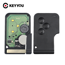 KEYYOU 5x 3 Buttons 433Mhz ID46 PCF7947 Chip For Renault Clio Logan Megane 2 3 Scenic Remote Key Smart Card Emergency Insert Key
