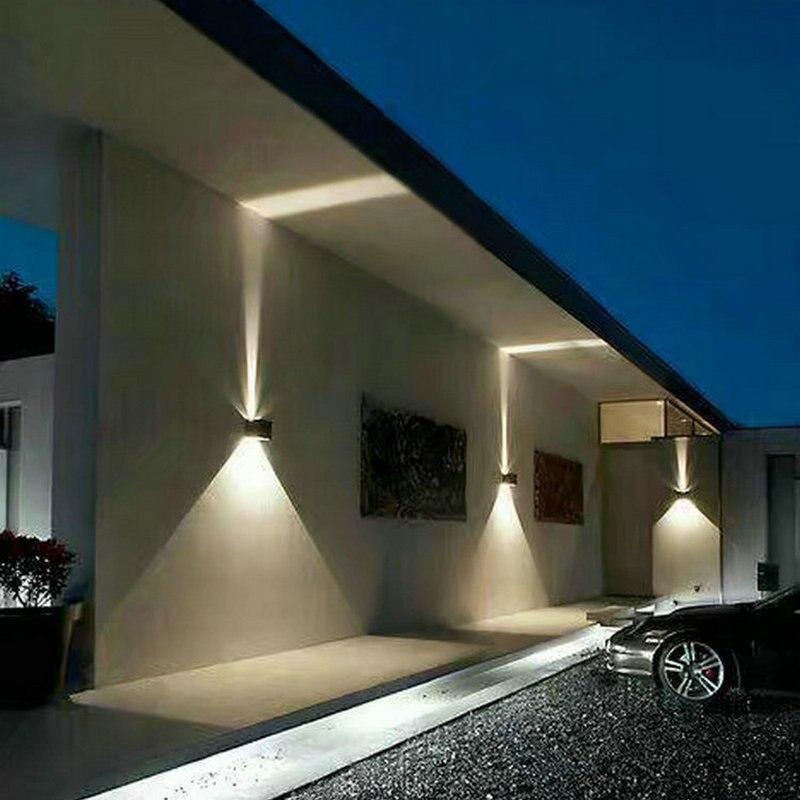 Wodoodporna zewnętrzna lampka led kinkiet ściana zewnętrzna lampa lampka na ganek balkon filar oświetlenie 6w10w aluminium alloyAC85-220V IP65