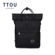 TTOU kadınlar harici USB şarj sırt çantası tuval okul sırt çantası Mochila Escolar kızlar Laptop sırt çantası