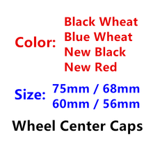 Center-Hub-Caps Cover Logo-Emblem Wheel Car-Styling-Accessories 56mm Black 60mm 68mm