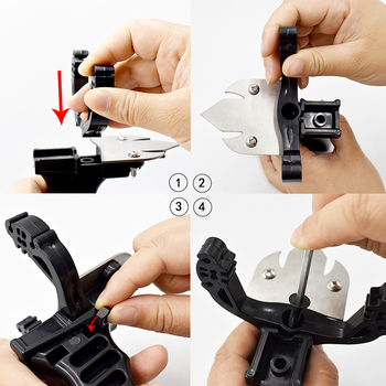 New Fishing Set Slingshot Hunting Catapult Suit Outdoor Shooting Fishing Reel + Darts Protective Gloves Flashlight Tools 6