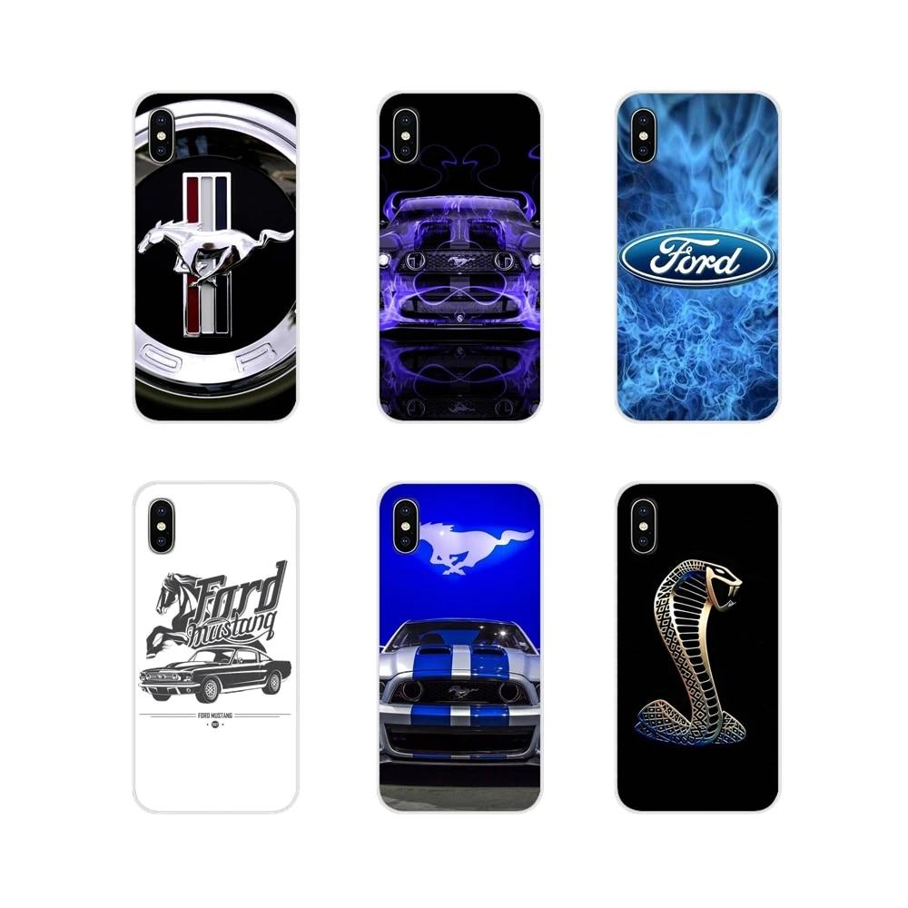 Coque souple transparente avec Logo humoristique, étui pour Apple iPhone X XR XS 11Pro MAX 4s 5s 5C SE 6S 7 8 Plus ipod touch 5 6 Ford Mustang Boss