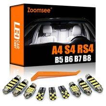 Масштабируемые светодиодсветодиодный Лампы Canbus для двери и багажника + Внутренняя купольная лампа для чтения карты в комплекте для Audi A4 S4 RS4...