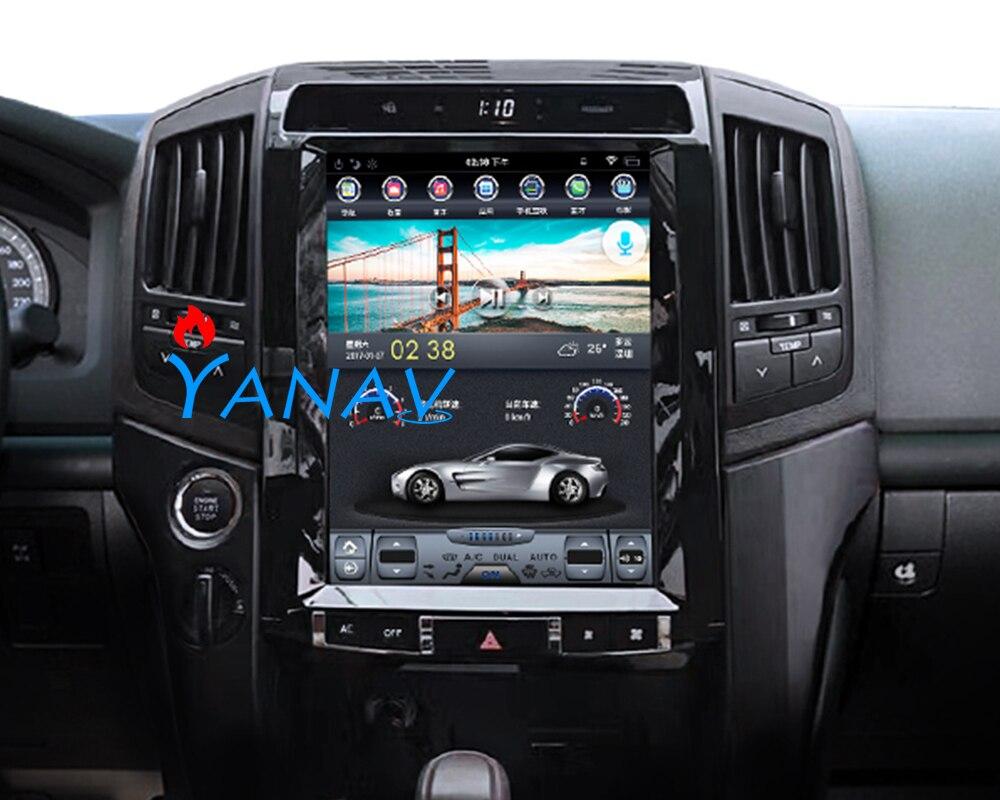 12,1 дюймовый экран Tesla Android 9. 0 px6 4 Гб ОЗУ Автомобильный GPS-навигатор для-TOYOTA Land Cruiser 08-15 Автомобильный мультимедийный плеер Android