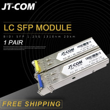 1 coppia 1.25G SM BiDi LC Gigabit SFP Modulo 1310nm/1550nm 3-80km Transceiver In Fibra Ottica sfp switch Compatibile con Mikrotik/Cisco(China)