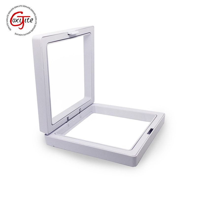 Goxijite White Transparent Suspension Display Cases Jewelry Box Necklace Storage Holder Gift Box