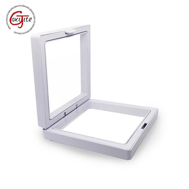 Goxijite White Transparent Suspension Display Cases Jewelry Box Necklace Storage Holder Gift Box