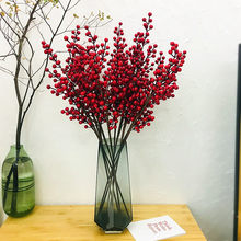 Berry Fortune Fruit Berry Branch Wedding Wedding Home Decoration Plant Simulation Fruit Chinese Hawthorn Flower Wholesale
