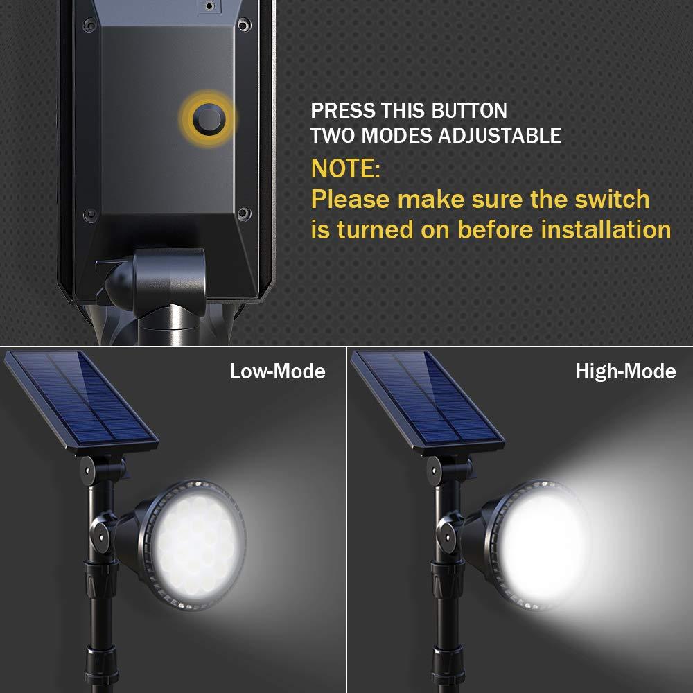 luzes solares do ponto ao ar livre 02
