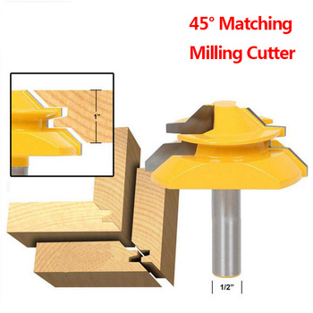 1/2 Handle Woodworking Knives Wood Milling Cutters High-grade 45°45 Degrees Kneading Knives Line Knives Angle Milling Knives фото