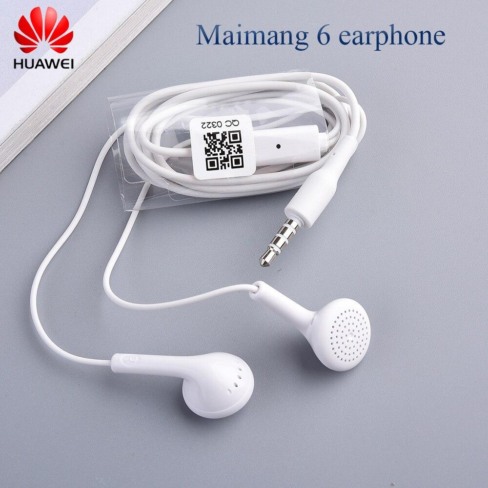 Оригинальные наушники Huawei 3,5 мм, внутриканальные стерео басы, проводная гарнитура с микрофоном для P8 P9 P10 Lite Y6 Y7 Y9 Honor 9