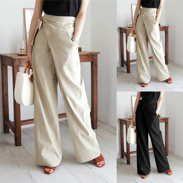 Elegant Solid Pants 1