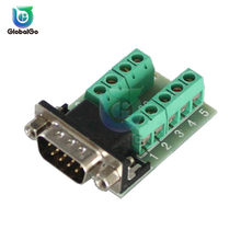 DB9 Connector Male Female DB9 Male Female Adapter Signals Terminal Module RS232 Serial To Terminal DB9 Connector(China)