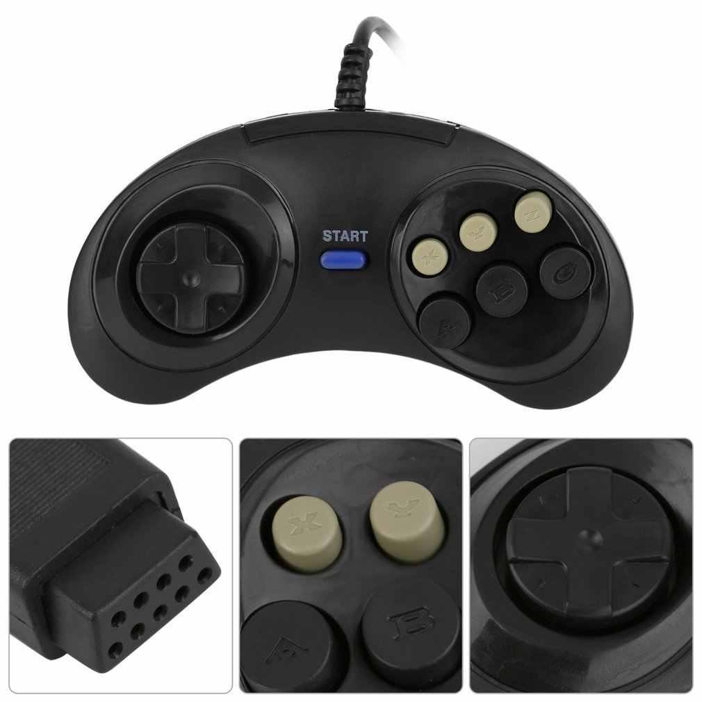 Vendita Calda! Sei Buttoms Del Gioco di Gioco Del Controller Maniglia di Comando Pad Gamepad Accessori in Plastica per Sega Megadrive Trasporto di Goccia