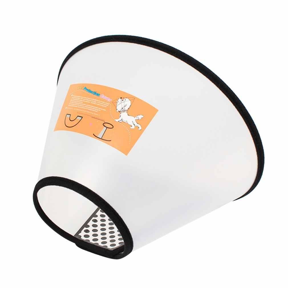 Cão de estimação cabeça capa coleiras anti-mordida proteção evitar cão mordendo pescoço pet grooming capa protetora