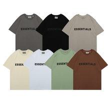 2021 Kpop Summer Letters Essentials Men T Shirt Oversize Homme Solid Short Sleeve Couples Casual Tshirts Women Tendance Femme