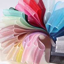 10 Meters Satin Ribbons Snow Yarn DIY Artificial Silk Roses Crafts Supplies Grosgrain Ribbon Scrapbooking Material Organza