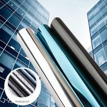 10m ochrona przed słońcem srebrne okno Film lustro półprzepuszczalne odblaskowe odcień słoneczny Pravicy anty-uv samoprzylepne kryształki budynku kolor