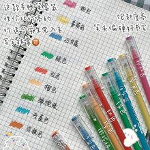 Набор цветных нейтральных ручек для студентов канцелярские принадлежности