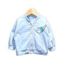 Детская хлопковая куртка на молнии с мультяшным принтом