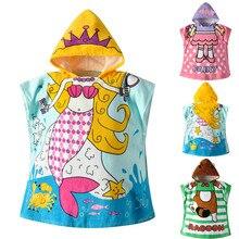 Банный халат для маленьких мальчиков и девочек, банное полотенце с капюшоном и рисунком животных, пижама, одежда
