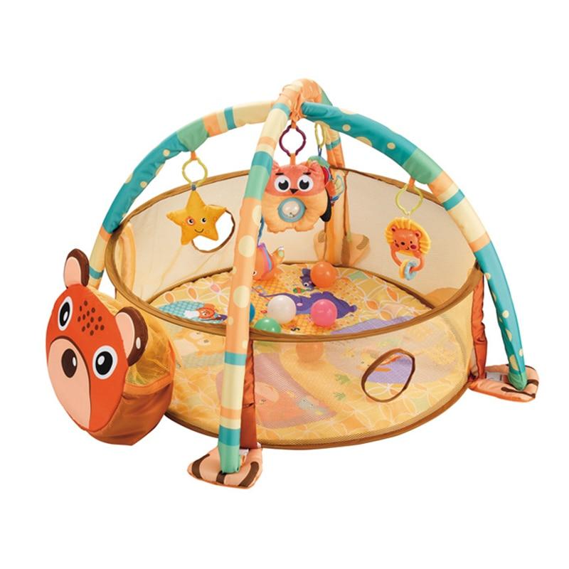 Interesting Baby Fitness Frame Multifunctional Baby Crawling Mat Ocean Ball Pool Game Blanket
