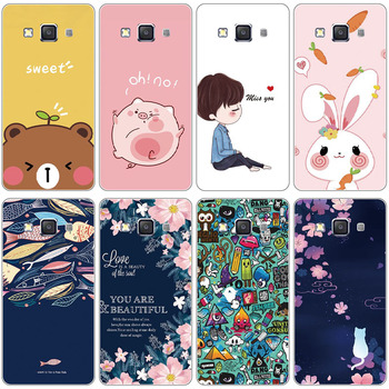 Silicon Case For Samsung Galaxy E5 E5000 SM-E500F E500 E500H E500F SM-E500FDS Full Protection Soft TPU Back Cover Phone bear image