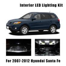 13 lâmpadas led branco carro mapa cúpula luz de teto kit interior para hyundai santa fe 2007-2010 2011 2012 carga cortesia licença lâmpada