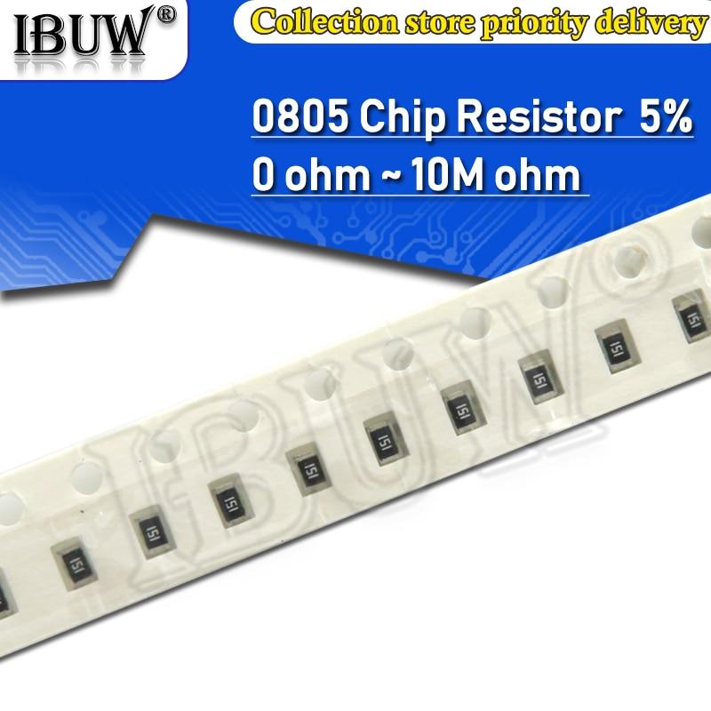 100 шт. 0805 5% 1/8 Вт SMD резистор проволочного чипа 0R ~ 10 м 0 1R 10R 100R 220R 330R 470R 1K 4,7 K 10K, 47 (Европа) K 100K 1 м 10 м, для детей 0, 1, 10 100 330 470 Ом