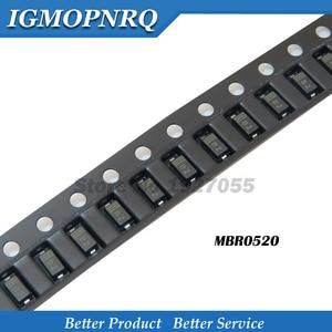 100pcs MBR0520LT1G SOD-123 MBR0520 SOD123 Surface Mount Schottky Rectifier new and original B2