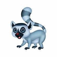 Симпатичная Автомобильная наклейка lemur приклеивающаяся для