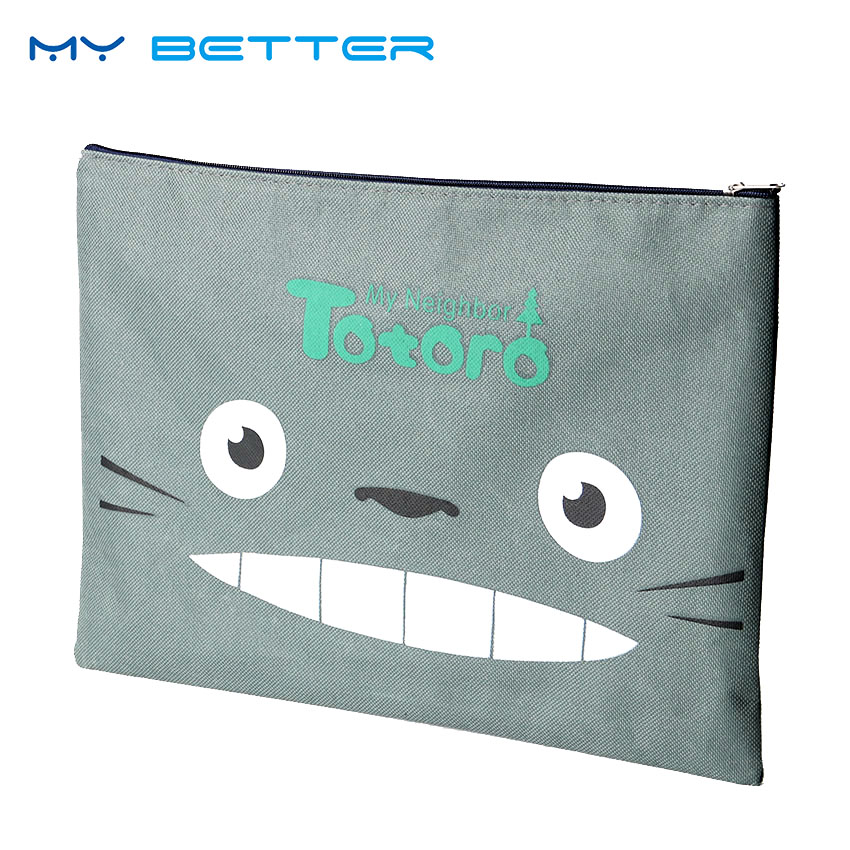 Cute My Neighbor Totoro Business Bags A4 Oxford Casual Briefcase Office File Storage Bag 33x23.5cm