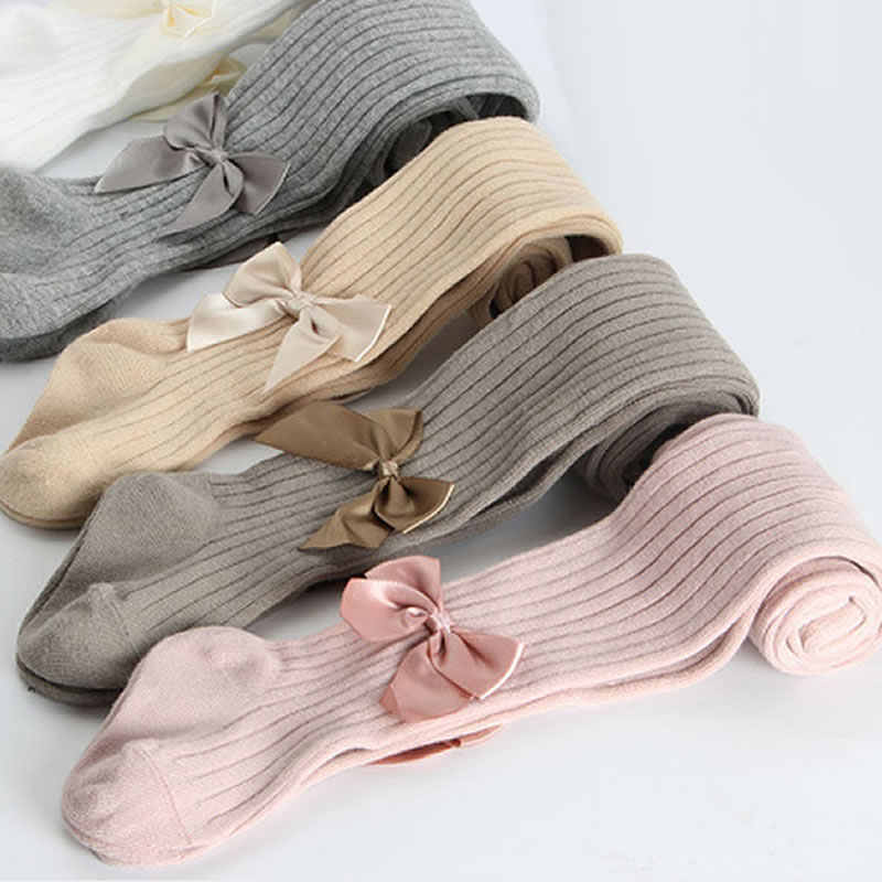 Girls Tights Princess Bowknet Baby Girl's One-Piece Pantyhose Baby Spring and Autumn New Style Trousers Lace Stocking