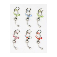 Belly Button Rings Dangle Brand New Belly Button Rings Stainless Steel Barbell Navel Body Piercing Jewelry цена и фото
